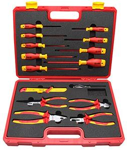 BOOHER 0200105 15-Piece 1000V VDE Insulated Tools Set