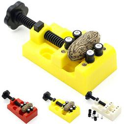 1 Set Mini Drill Press Vise Clamp Bench Walnut Carving Holde