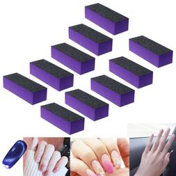 10 Pcs Black Purple Buffer Buffing Sanding Block Files Grit