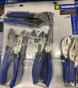KOBALT 10-Piece Household Tool Set Pliers Wrench Strong Chro