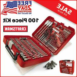 Craftsman 100 PCS Accessory Kit Mechanic Tool Set Polished C