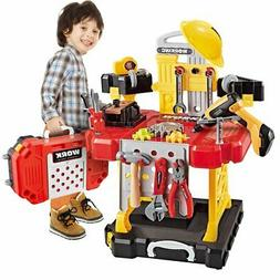 100 Pieces Power Construction Toy Workbench for Toddlers Kid