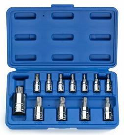 Neiko 10085A Tamperproof Torx Plus Bit Socket, 12 Piece Set