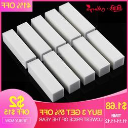 Monja 10Pcs White Nail Art Buffer <font><b>Block</b></font>