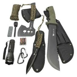 12-Pack Camping Tool Set Survival Gear Blades Knife Axe Esse