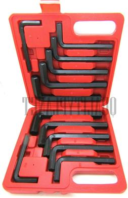 12 pc Jumbo Hex Key Allen Wrench Driver Tool Set. Metric and