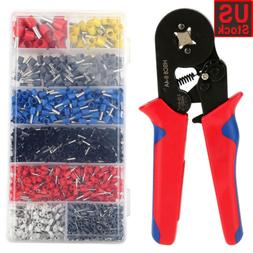 1200pcs Connector Electrical Wire Terminals Crimp Tools with