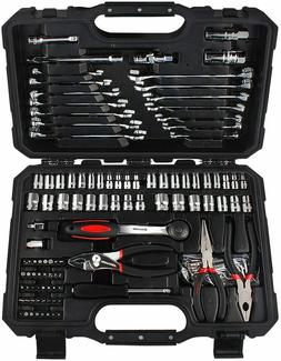 124 Socket Wrench Tool Set Combination Package Auto Repair M