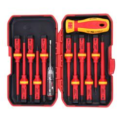 13pcs set electricians insulated electrical hand screwdriver