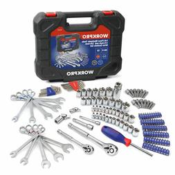 Workpro 145 Piece Tool Set 1/4 in. 3/8-in.Sockets Set SAE Me