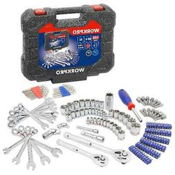 Workpro 145 Piece Mechanic Tool Set 1/4 inch and 3/8 inch Dr