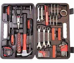 CARTMAN 148-Piece Tool Set with Plastic Toolbox Storage Case