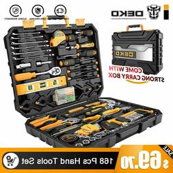 DEKO 168pcs Hand Mechanics Tool Set Standard Socket Wrench S