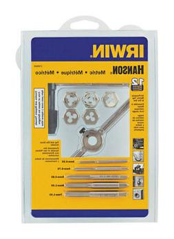 IRWIN HANSON 1765541 Tap and Die Set, M3 to M7, 12 pc