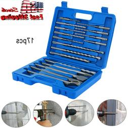 17pc New SDS Plus Rotary Hammer Drill Bits Chisel Concrete M
