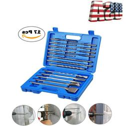 17PCS Drill Bits & Chisel SDS Plus Rotary Hammer Bits Set Fi