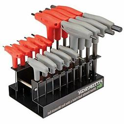 18 Pc SAE & Metric T-Handle Ball End Hex Key Set by USATNM