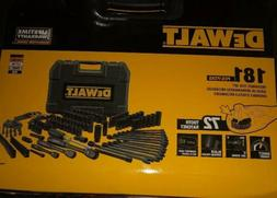 Dewalt 181 PC Black Chrome Mechanics Tool Set & Hard Case -1