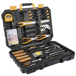 DEKO 196 Piece Tool Set General Household Hand Tool Kit with