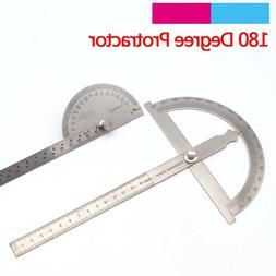 1pcs 145mm 150mm Stainless Steel Round Head 180 degree Protr