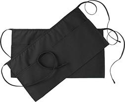 2 WAIST APRON WITH 3 POCKETS COTTON POLY COMMERCIAL RESTAURA