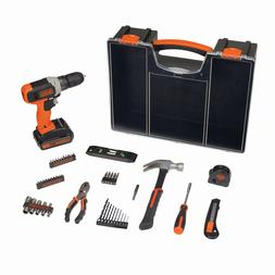 20-Volt MAX Cordless Drill Project Kit 53-Piece BLACK+DECKER