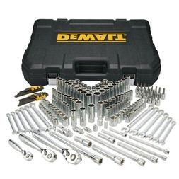 DEWALT 204 Piece Mechanics Tool Set Case Metric PC Socket Wr