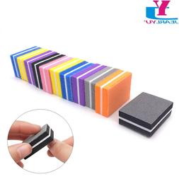 20pcs/Lot Mini Sponge Nail File Colorful <font><b>Sanding</b