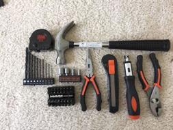 21 Pieces Hand Tools Set Black and Decker Project Kit