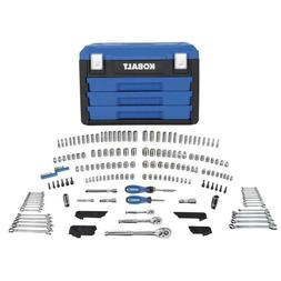 Kobalt 227-Piece Standard/Metric Mechanics Tool Set with Cas