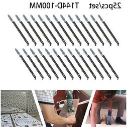 25pc Alloy Steel Jig Hacksaw Saw Blade Set Cutting Tools For