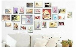 GOWE 26 Bathroom Art Home Decor White Collage Wall photo Fra