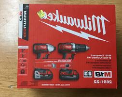 Milwaukee 2691-22 M18 2 Tool Combo Set w/ Batteries Charger