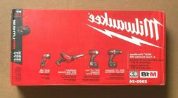 Milwaukee 2695-24 M18 Li-Ion Cordless Power 4-Tool Set w/ Tw