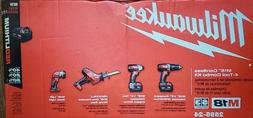 Milwaukee 2695-24 M18 Li-Ion Cordless Power 4-Tool Set w/ 2