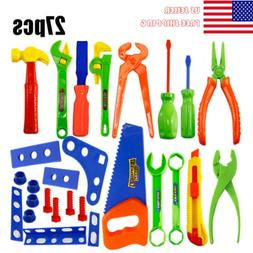 27pcs Repair Tools Set Boy Kid Cosplay Toys Craftsman Preten