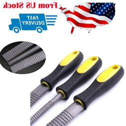 3 Piece File and Rasp Set Grinder Curved Half Round Flat Woo
