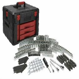 320 Piece Mechanics Tool Set with Storage Case Sockets, Ratc