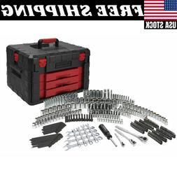 320-Piece Mechanic's Tool Set with Storage Case Sockets Ra
