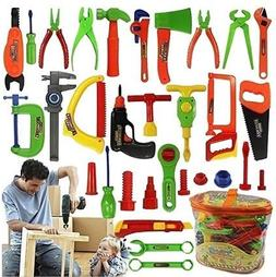 34 Pcs Repair Tools Set Boy Kid Toys Craftsman Pretend Play