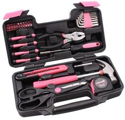 39 Piece Tool Set Kit Box Pink. Women Ladies Girls Female Ha