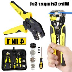 4 In 1 Wire Crimpers Automatic Wire Stripper Pliers Terminal