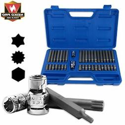 40 Pc Neiko Pro Industrial S2 Power Hex Socket Bit Set Power