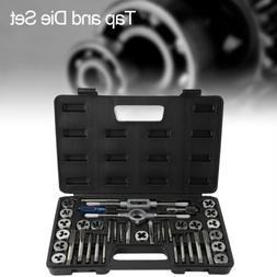 40 Pc Tap And Die Tool Set Standard Heavy Duty