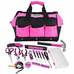 Allspace 43 Piece Home and Office Pink Essentials Tool Set w
