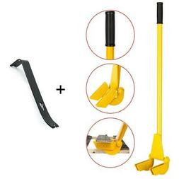 """44"""" Pallet Buster Breaker Pry Bar with Handle + Nail Puller"""
