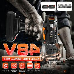 48V Electric Cordless Rechargeable Drill Driver Drill Screw