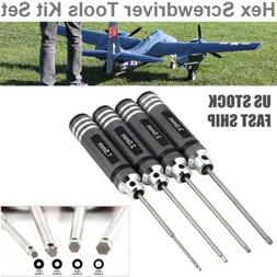 4x Hex Screwdriver Repair Tool Set For RC Car Drone Helicopt