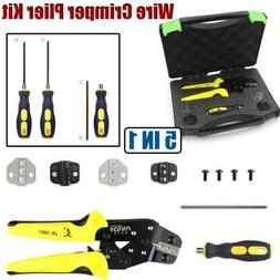 5 IN 1 Insulated Crimper Plier Cable Connectors Terminal Wir