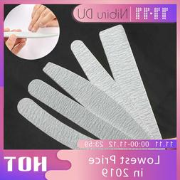 5 pcs/lot Sandpaper Nail File Lime 100/180 Double Side <font